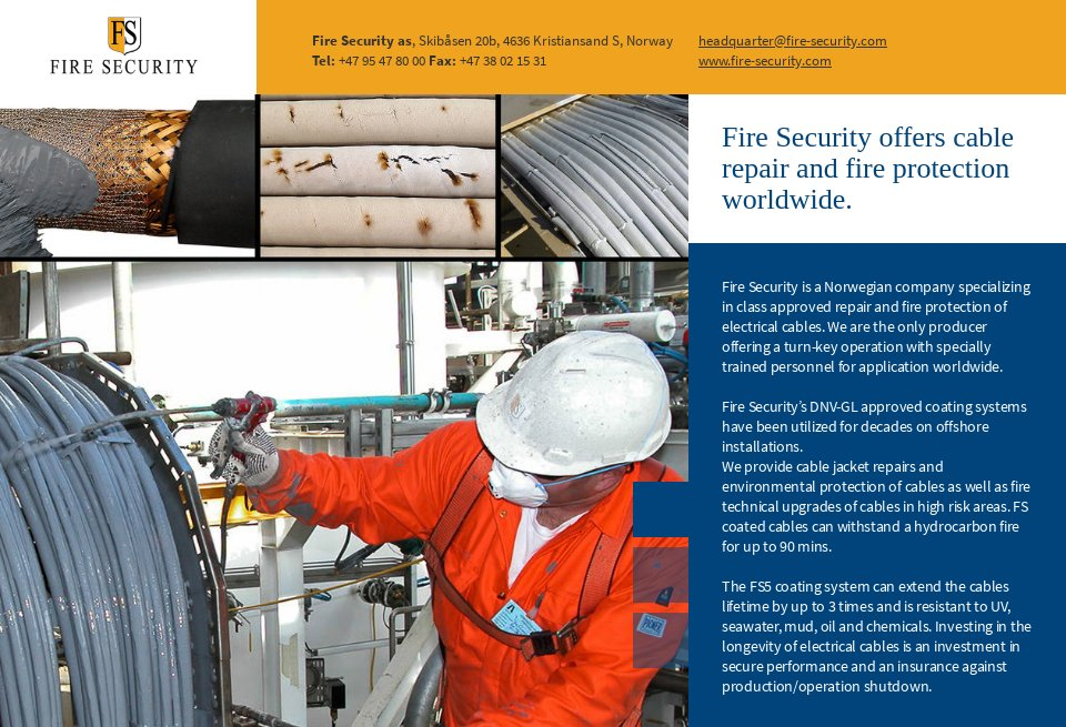 Fire Security Offshore Technology Focus Issue 72